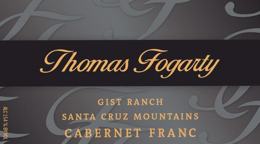 Thomas Fogarty Gist Ranch Cabernet Franc 2005  Front Label