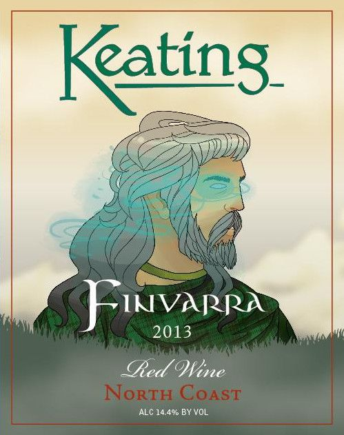 Keating Wines Finvarra 2013  Front Label