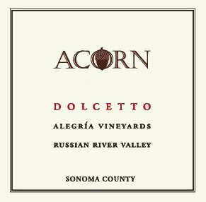ACORN Winery Alegria Vineyards Dolcetto 2010 Front Label