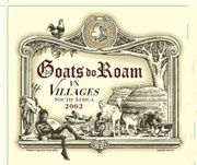 Goats do Roam In Villages Red 2003 Front Label