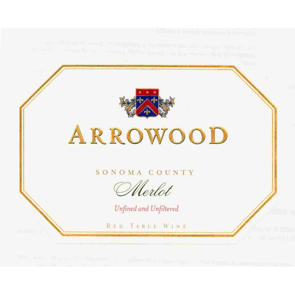 Arrowood Merlot 1995 Front Label