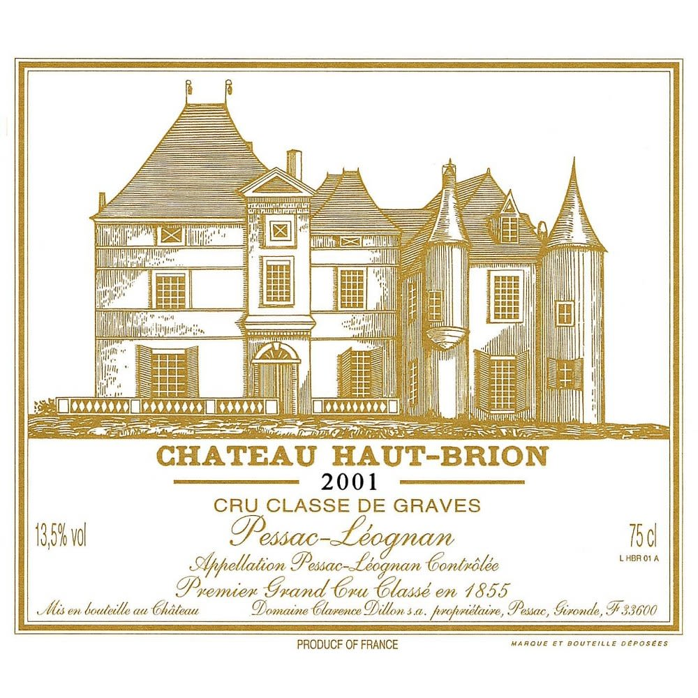 Chateau Haut-Brion  2001 Front Label