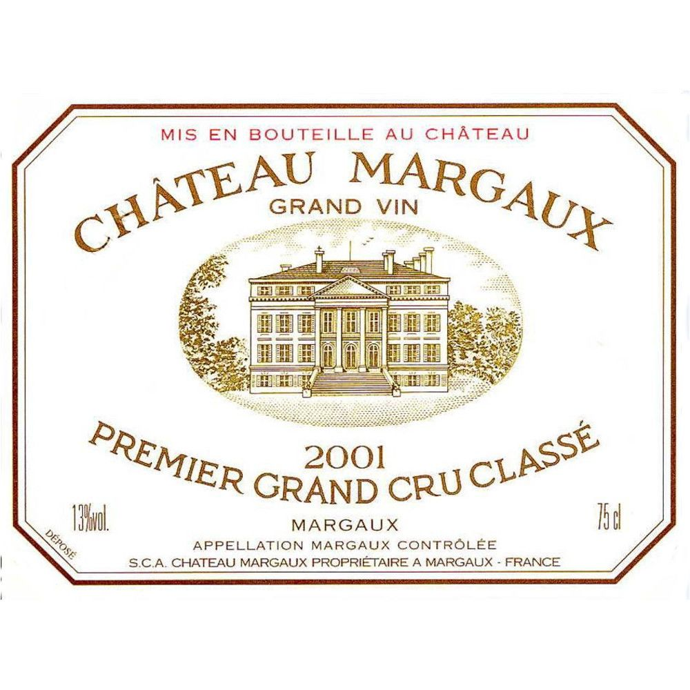 Chateau Margaux  2001 Front Label