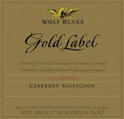 Wolf Blass Gold Label Cabernet Sauvignon 2001 Front Label