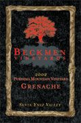 Beckmen Purisima Mountain Vineyard Grenache 2002 Front Label