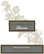 Columbia Crest Reserve Syrah 2002 Front Label