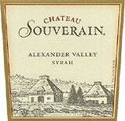Chateau Souverain Alexander Valley Syrah 2001 Front Label