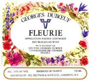 Duboeuf Fleurie 2003 Front Label