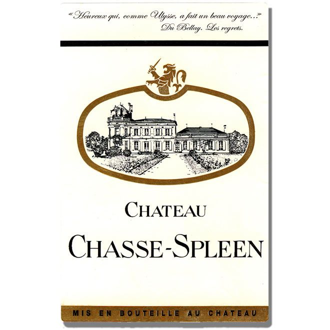 Chateau Chasse Spleen Medoc 1995 Front Label