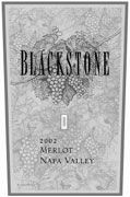 Blackstone Napa Merlot (half-bottle) 2002 Front Label