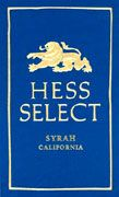 Hess Select Syrah 2002 Front Label