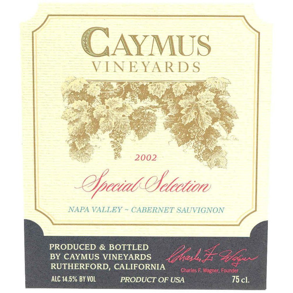 Caymus Special Selection Cabernet Sauvignon 2002 Front Label