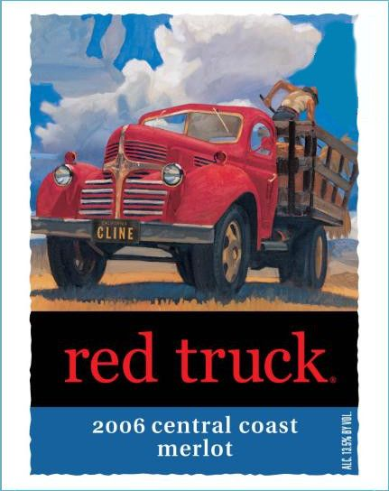 Red Truck Winery Merlot 2006 Front Label