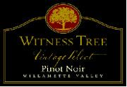Witness Tree Vintage Select Pinot Noir 2002 Front Label