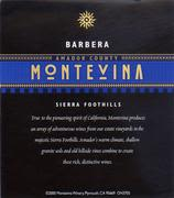 Montevina Barbera 1997 Front Label
