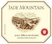 Jade Mountain Mourvedre 2003 Front Label