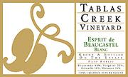 Tablas Creek Esprit de Beaucastel Blanc 2003 Front Label
