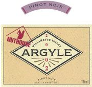 Argyle Nuthouse Pinot Noir 2002 Front Label