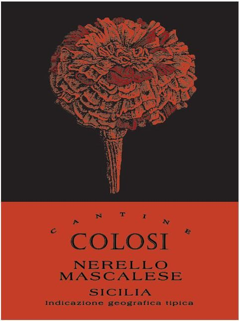 Colosi Nerello Mascalese 2009 Front Label
