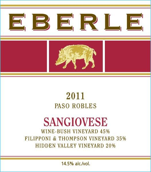 Eberle Sangiovese 2011 Front Label