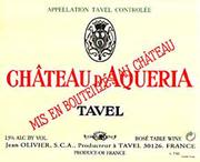 Chateau D'Aqueria Tavel Rose 1998 Front Label