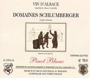 Domaines Schlumberger Pinot Blanc 1997 Front Label