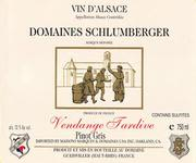 Domaines Schlumberger Vendage Tardive Pinot Gris 1996 Front Label