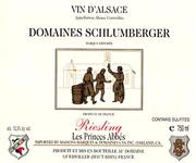 Domaines Schlumberger Les Princes Abbes Riesling 1995 Front Label