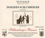 Domaines Schlumberger Schlumberger Reserve 1994 Front Label