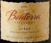 Bonterra Organically Grown Syrah 2001 Front Label