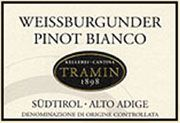 Tramin Pinot Bianco 2004 Front Label