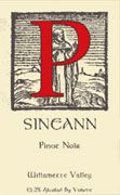 Sineann Wy'east Pinot Noir 2002 Front Label