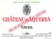 Chateau D'Aqueria Tavel Rose 2004 Front Label