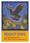 Night Owl Pinot Noir 2003 Front Label