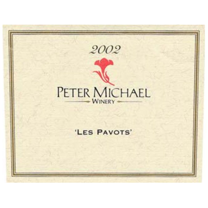 Peter Michael Les Pavots 2002 Front Label