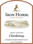 Iron Horse Corral Vineyard Chardonnay 2002 Front Label