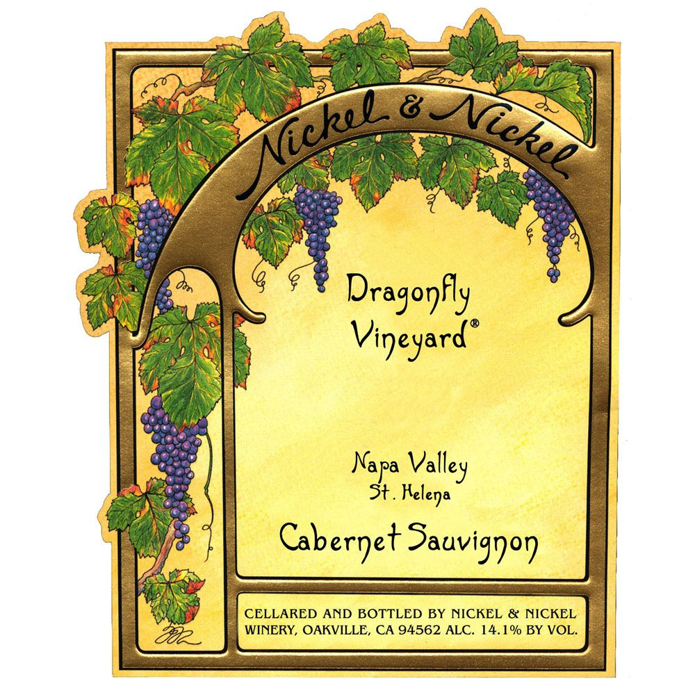 Nickel & Nickel Dragonfly Vineyard Cabernet Sauvignon 2001 Front Label