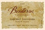 Bonterra Organically Grown Cabernet Sauvignon 2002 Front Label