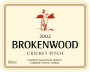 Brokenwood Cricket Pitch Red 2002 Front Label