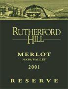 Rutherford Hill Reserve Merlot 2001 Front Label