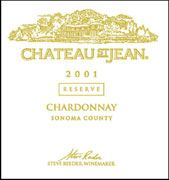 Chateau St. Jean Sonoma County Reserve Chardonnay 2001 Front Label