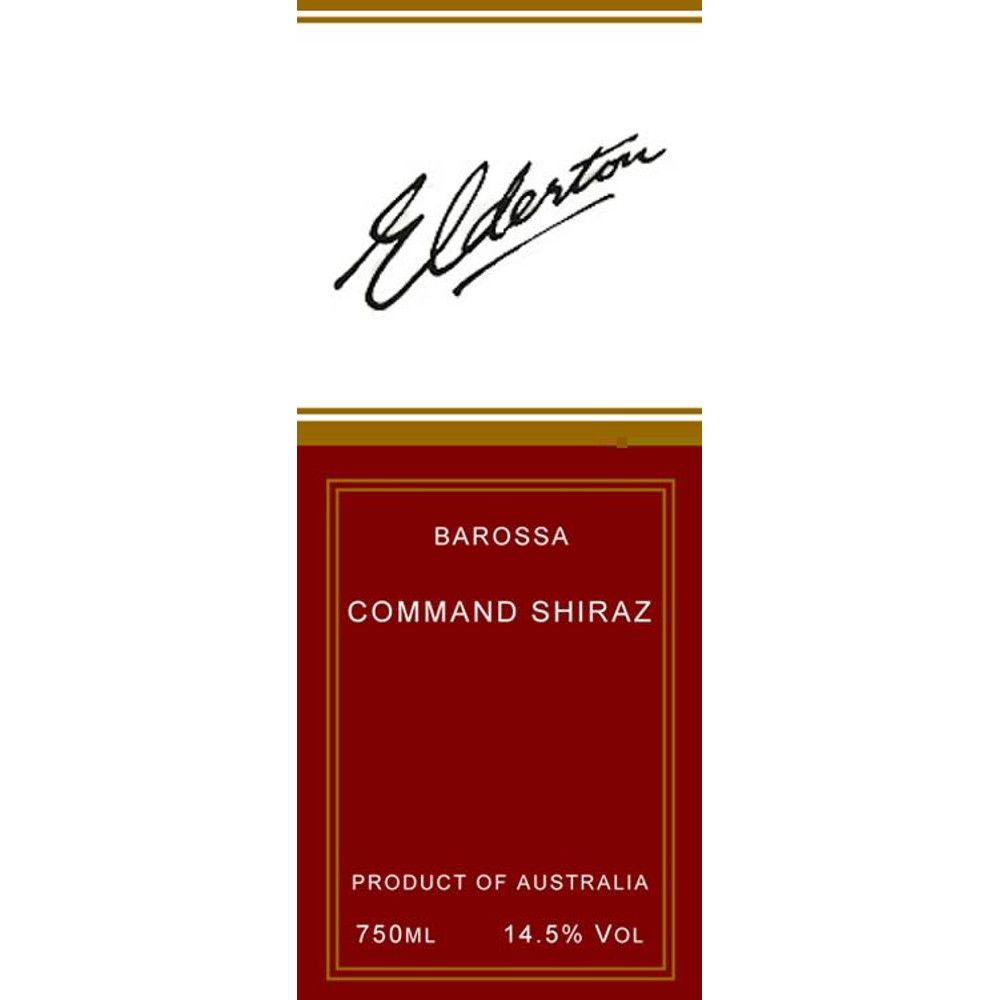 Elderton Command Shiraz 2001 Front Label