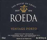 Croft Quinta Da Roeda 1995 Front Label