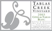 Tablas Creek Tablas Estate Blanc 2003 Front Label