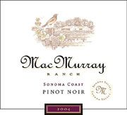 MacMurray Ranch Sonoma Coast Pinot Noir 2004 Front Label