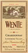 Wente Chardonnay 2004 Front Label