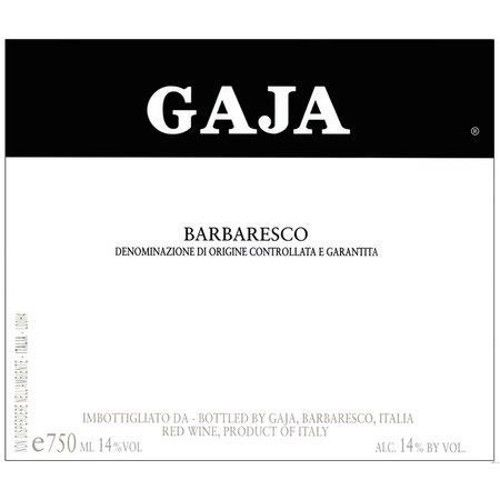 Gaja Barbaresco 2001 Front Label