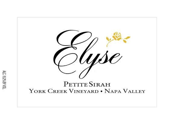 Elyse York Creek Vineyard Petite Sirah 2011 Front Label