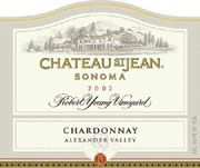 Chateau St. Jean Robert Young Vineyard Chardonnay 2002 Front Label