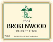 Brokenwood Cricket Pitch White 2004 Front Label